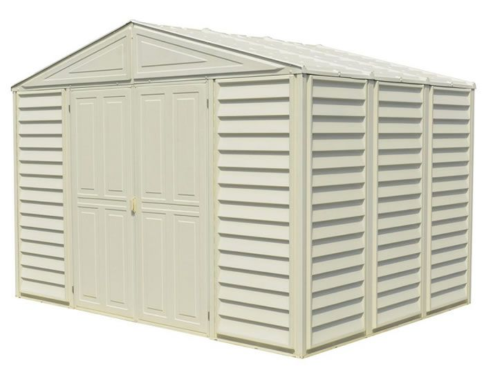 Arrow Milford 10x10 Vinyl Coated Steel Storage Shed Vm1010 Storage Sheds Vinyl Storage Sheds Steel Storage Sheds Metal Storage Sheds