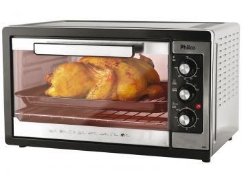 Forno Elétrico Philco 46L - com Timer - Forno Elétrico 46 litros da Philco. Este super forno vai facilitar o seu dia a dia na hora de preparar diversas receitas. Aproveite a promoção dos preços baixos!