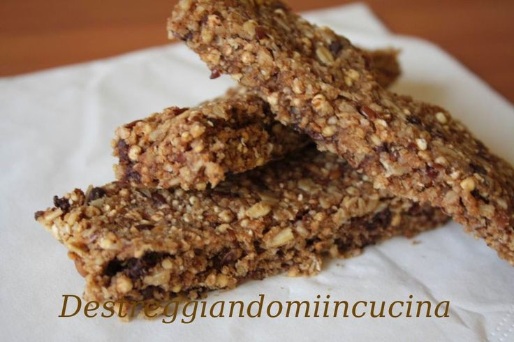 Destreggiandomi in cucina: Barrette multicereali col cioccolato - di Marco Bianchi #barrette #avena #oat #cereali #cereals