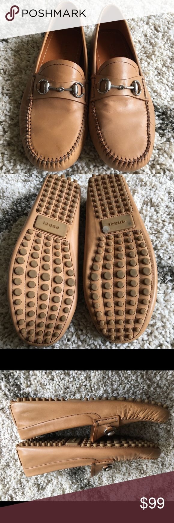 Gucci Men's Tan Loafer Size 9.5 - Great Condition Men's 9.5 G Gucci loafer. These have been lightly worn. Only worn out of the house once. These are very nice! Gucci Shoes Loafers & Slip-Ons