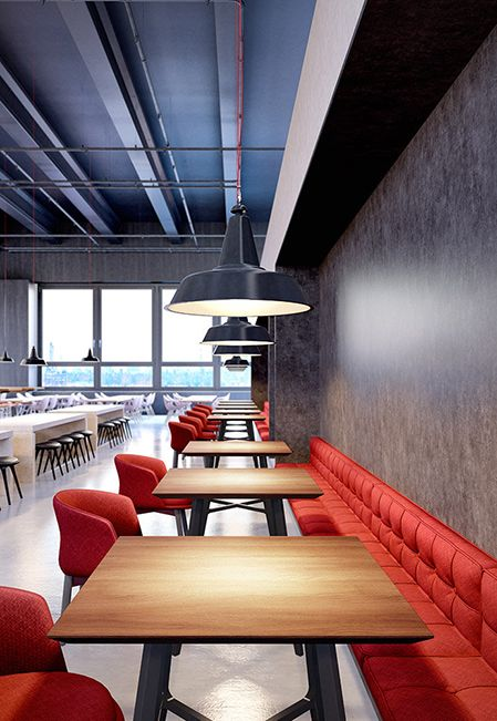Wilsonart laminate are always making solutions for high traffic areas like this amazing cafeteria, get inspired.