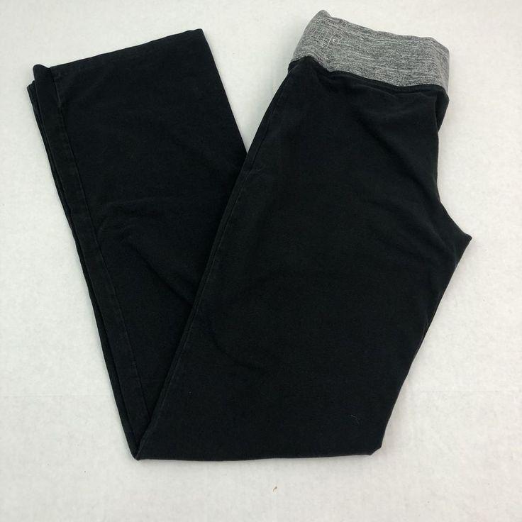 Victoria Secret Pink Yoga Pants Bootcut Black Flat Waist Band Size Medium  | eBay
