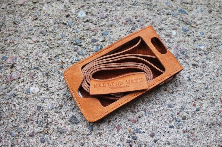 MillionWays - iPhone Leather Case (veg. tanned)