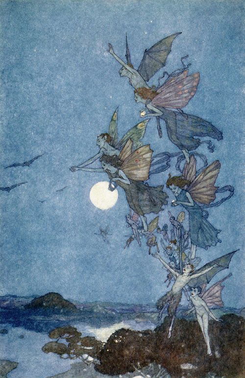 Elves and Fairies, illustration for The Tempest