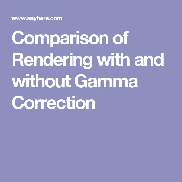 Comparison of Rendering with and without Gamma Correction