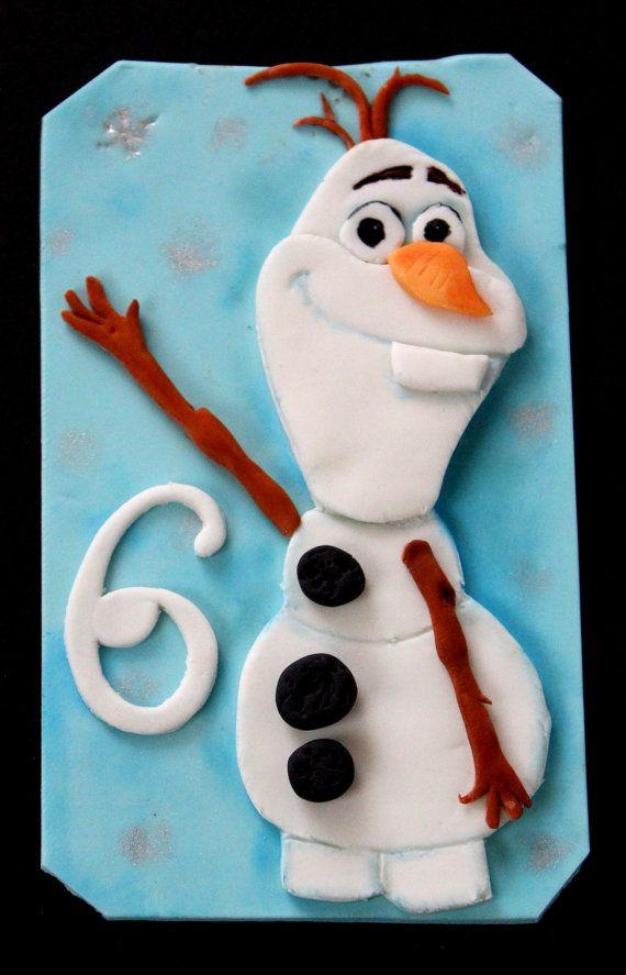 Fondant Comestibles, Gâteaux Fondants, Film Congelés, Disney Gelé, Disney Cruise / Plan, Gâteaux Sabz, Fondant Olaf, Birthday Topper, Cookie Birthday