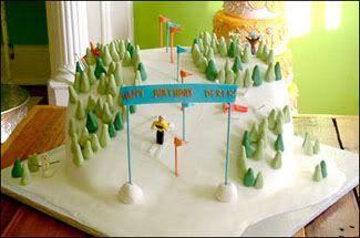 ski cake for Caleb