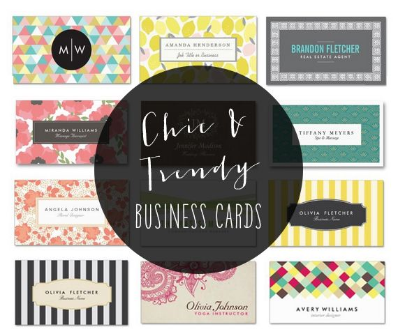 Create personalized chic and trendy business cards designed by Origami Prints #modern #cute #card #design #designs