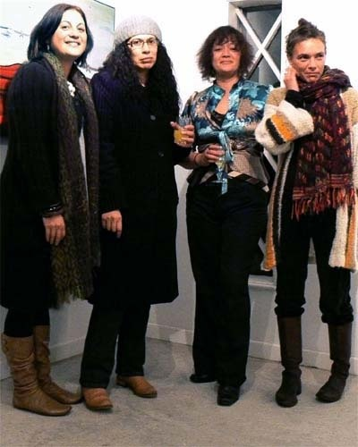 artists Charlotte Graham, Tracey Tawhiao, Andrea Hopkins and Star Gossage