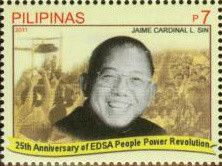 Stamp: Jaime Cardinal Sin (Philippines) (EDSA People Power Revolution - 25th…