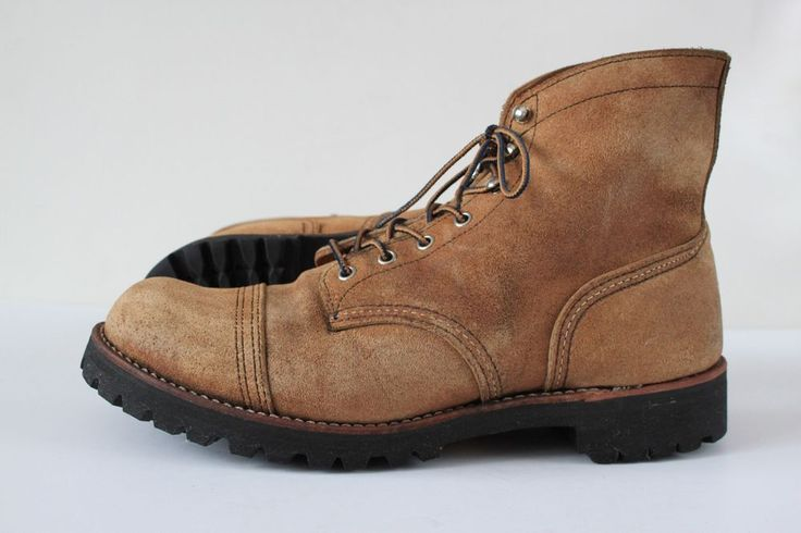 """Mens Red Wing #8113 Iron Rangers """"Muleskinner"""" W/Vibram 6Lug Outsole  #RedWing #AnkleBoots"""