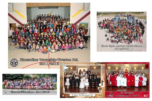 Specialty Group Portraits and Panoramas! Many of our schools look forward every year to their annual student body portrait.  Celebrate school spirit and student legacy at your school with a variety of options that, depending on your school, could include rooftops, custom shapes or unique locations.