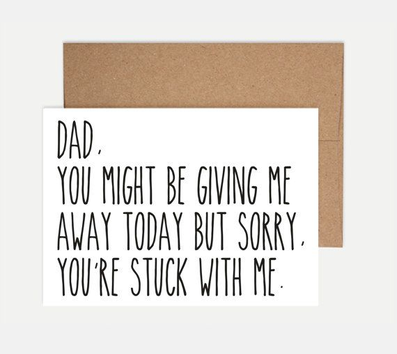 On Your Wedding Day Surprise Your Dad With This Special: A Special Note To Dad On Your