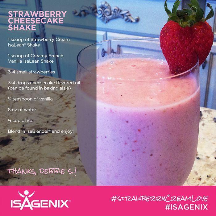 Strawberry Cream Love!   Isagenix Strawberry shake!   www.mnmfit.isagenix.com