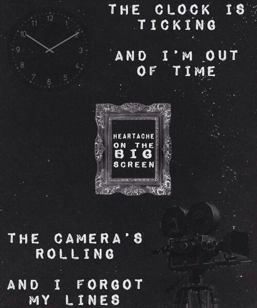 5sos typography heartache on the big screen lyrics pinterest