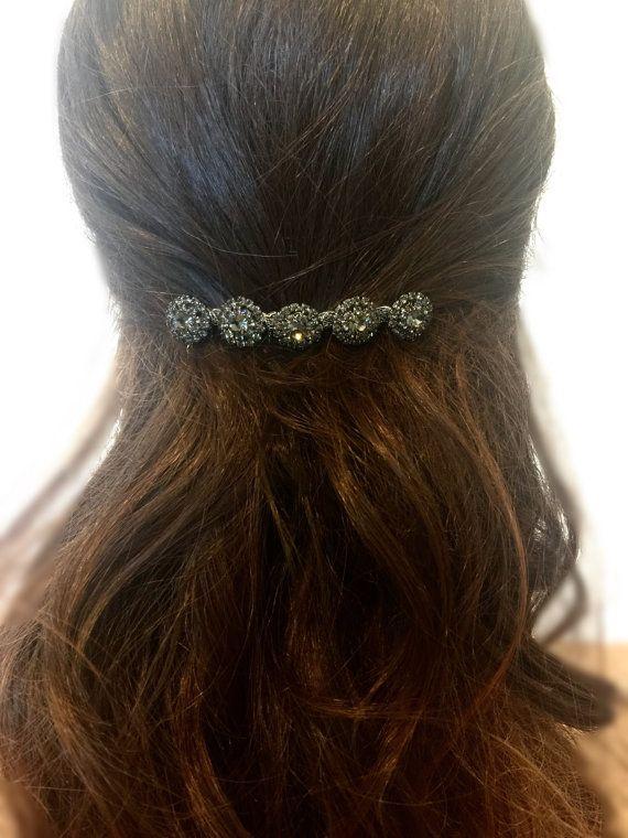 Haar accessoires Rhinestone kam bruids kam door FashionaryDesign