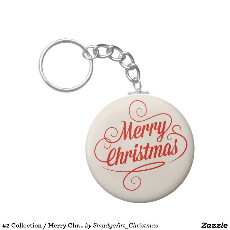 #2 Collection / Merry Christmas Basic Round Button Keychain