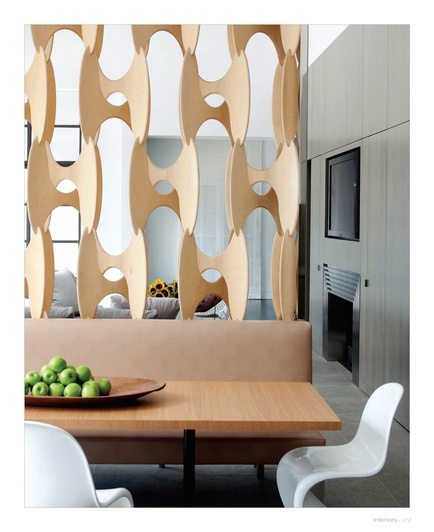 This room divider is sculptural art.