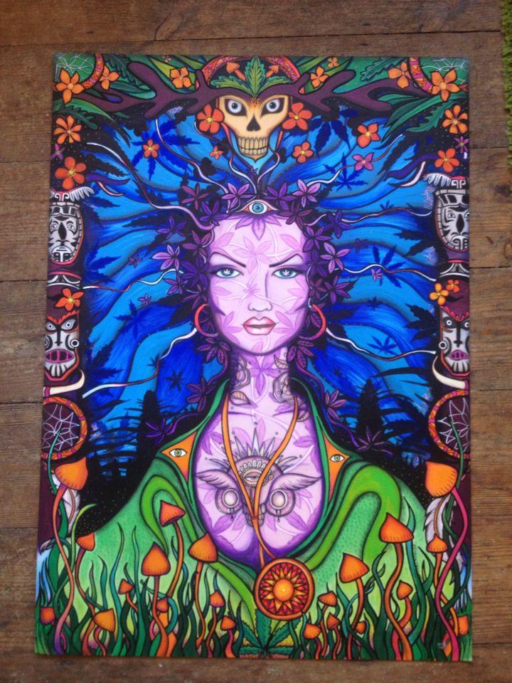 New commission artwork for dr. Bob medi herb shop.
