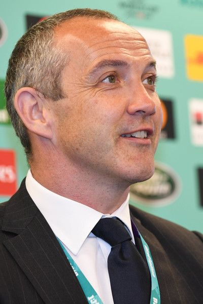 Conor O'Shea Photos Photos - Conor O'Shea head coach of Italy attends a press conference after the Rugby World Cup Pool Draw at the Kyoto State Guest House on May 10, 2017 in Kyoto, Japan. - Rugby World Cup Pool Draw