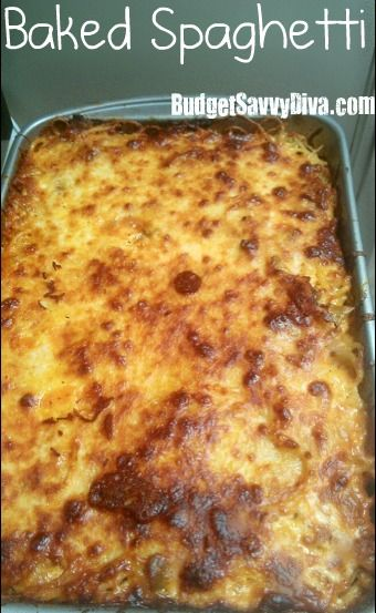 "Baked spaghetti. Recipe states it's like a ""lazy lasagna"". Going to try!!"