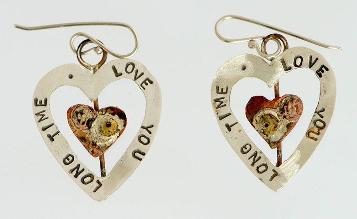 Love-You-Long-Time Drop Earrings: Diane Connal