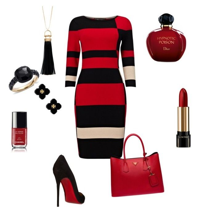 Untitled #51 by evelin-pap on Polyvore featuring polyvore, fashion, style, Phase Eight, Christian Louboutin, Prada, Tory Burch, Pomellato, Sparkling Sage, Lancôme, Christian Dior, Chanel and clothing