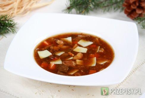 Wigilijna zupa grzybowa - przepis z portalu przepisy.pl