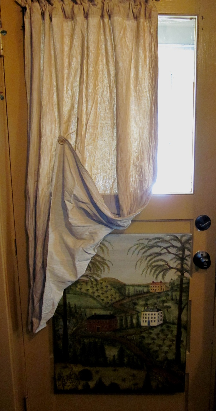 Curtains And Original Painting
