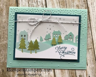 Stampin' Up! November Paper Pumpkin:  Winter Wonderland.  Make it a full size card by just adding some cardstock!