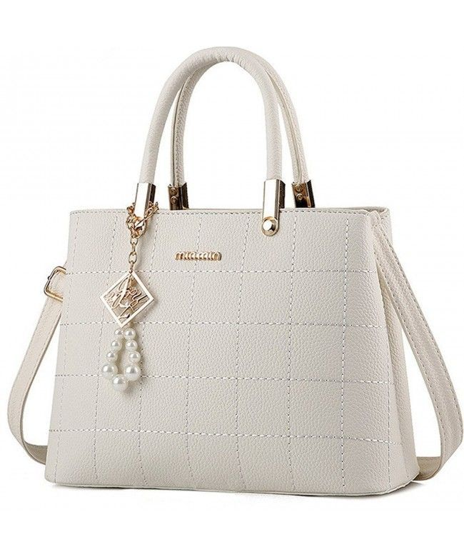 Checkered Cross-body Bags for Women PU Leather Satchel Handbags Shoulder Bag