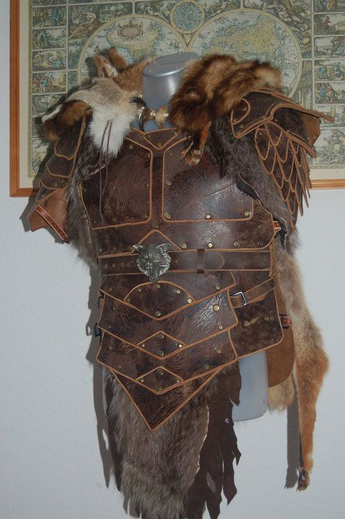 Viking Leather Armor | Viking Leather Armor Leather and fur larp armor: by