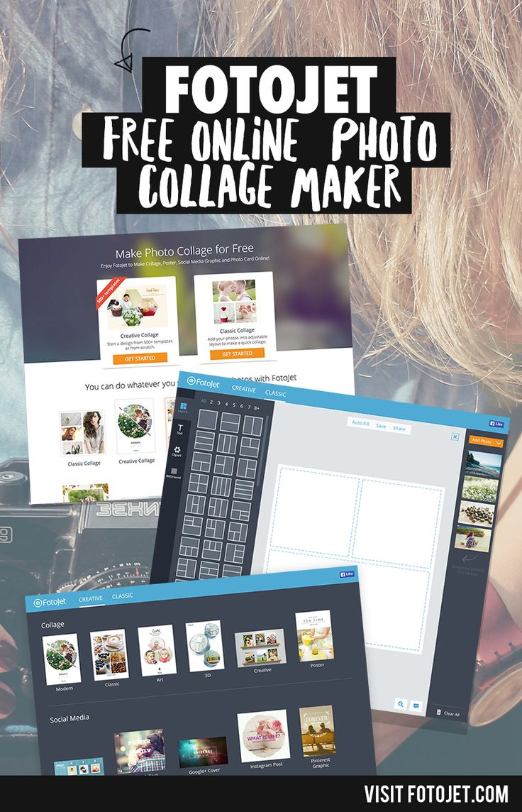 Looking for a snazzy photo collage maker ONLINE? FOTOJECT is your BESTIE. Click the PIN to start creating photo collages now!