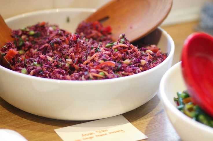 Asian Slaw with a Ginger Peanut Dressing