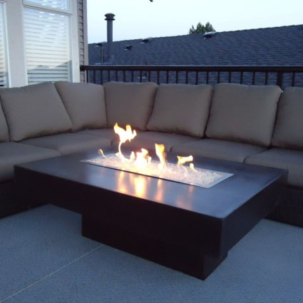 rectangular fire pit coffee table - discount hearth | stylish
