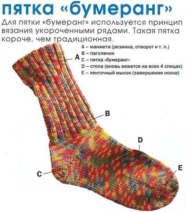 Три способа вязания носка
