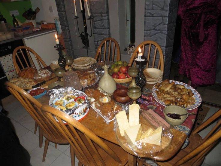 Winterfell food table