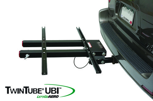 Mount any bike rack, hitch rack, or cargo platform onto our slide out telescope hitch rack platform for easy access vehicle trunks and rear doors.