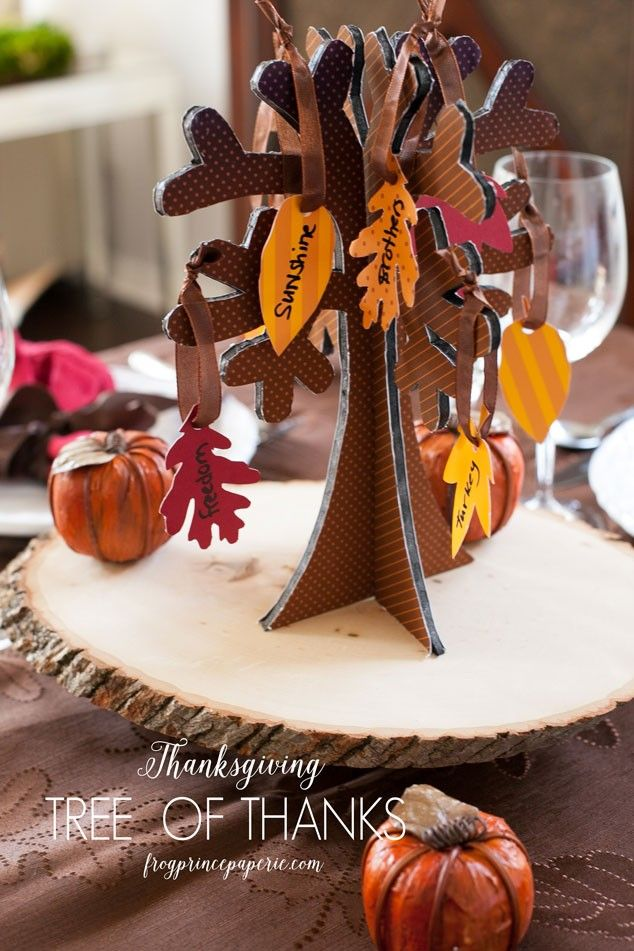 Free printable Tree of Thanks for Thanksgiving. Show what you are thankful for!