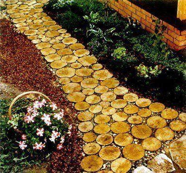Крутые идеи садовых дорожек