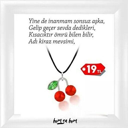 Gönlü kiraz mevsiminde kalanlar için.  www.bomsabom.com