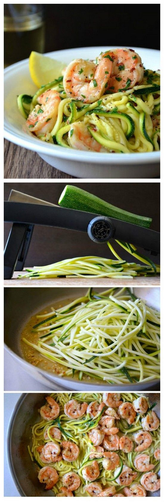 Skinny Shrimp Scampi with Zucchini Noodles | Gurman chef