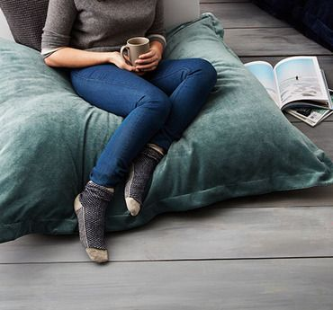 Floor Pillows | could be good for when you have too many people staying over than you have beds