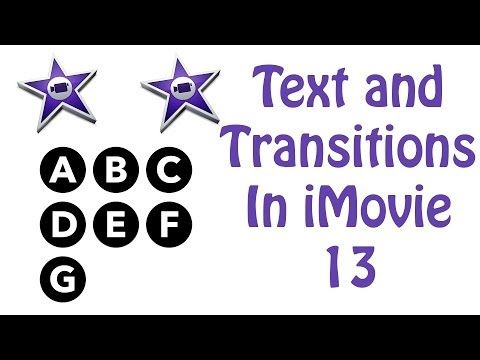 how to add transitions in imovie 10