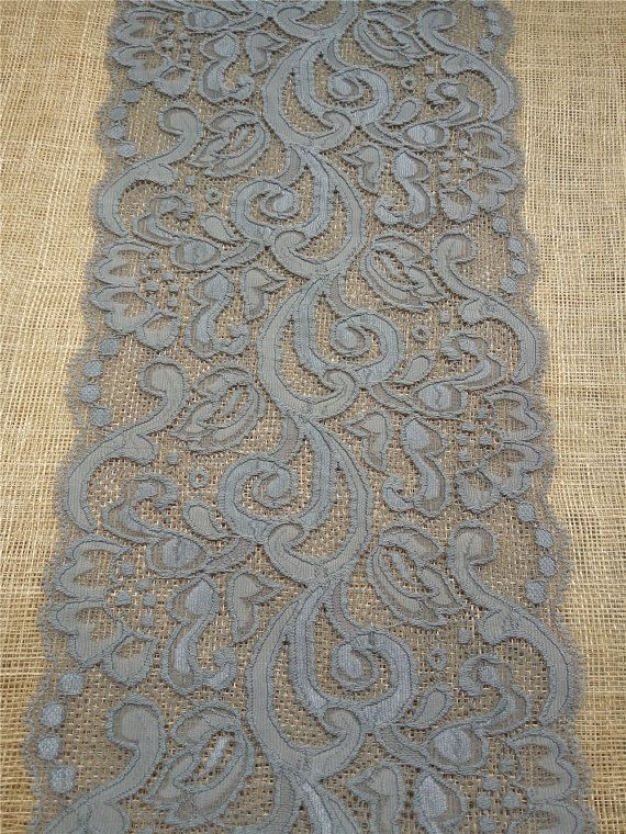 Gray lace table runnergrey lace runner 7 by WeddingTableRunners