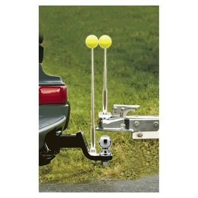 Reese Solo Hitch alignment system is designed for one person to be able to attach the tow vehicle to the trailer. It features a magnetic base for convenient placement, and adjustable rods with bright #rvhacksrvorganization