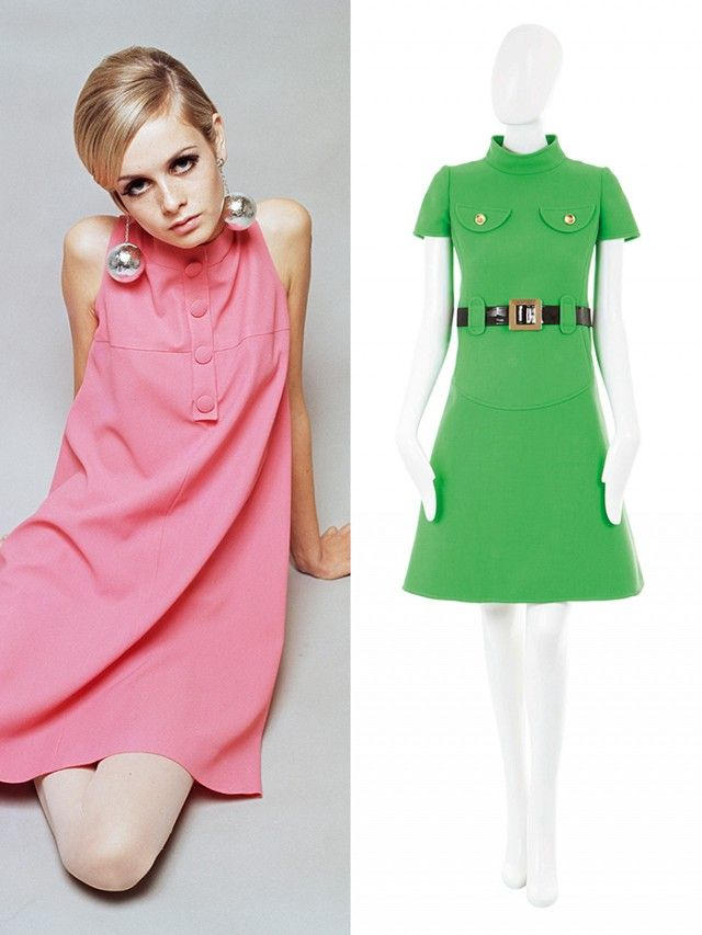 """1960s Defining Silhouette: A-line shift dress Best For: Long, lean, and athletic bodies 60s A-line shift dress, you could work in and drive in and party in. If you have a slightly larger bum, they are fantastic; if you don't have a defined waist, they are brilliant, because the A-line pretty much hides all thinness. I really think the '60s are fantastic for the working wardrobe, you've got beautiful tailoring that was still fresh and clean. It's become the universal benchmark for tailoring."""""""