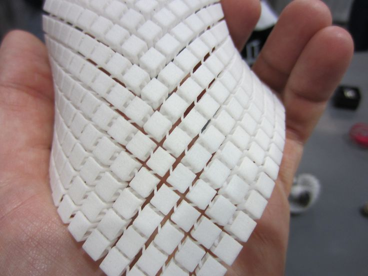 """A plastic 3D printed """"fabric"""" at the Shapeways booth at SIGGRAPH. Lots of interesting possibilities there."""