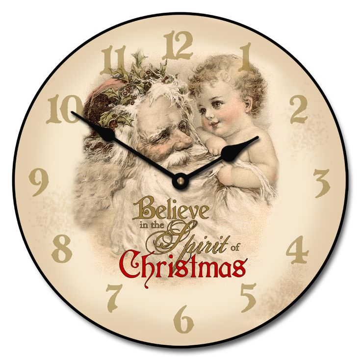 "Vintage Santa Clock 12"" only 44.10 includes free shipping you use our coupon code holiday10 at checkout. http://www.clocksaroundtheworld.com/vintage-santa-clock.html"