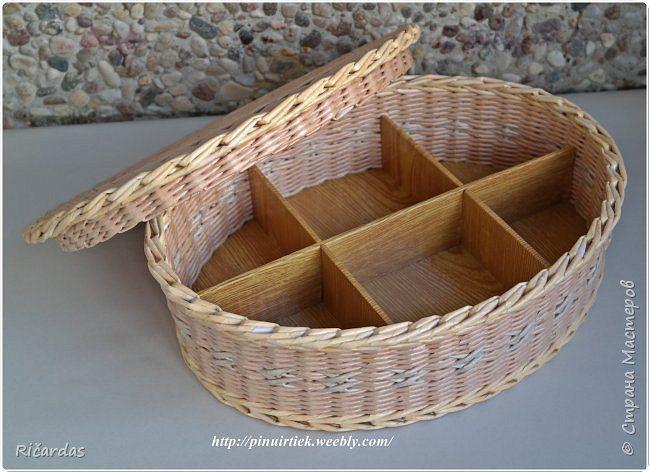Поделка изделие Плетение Май-июнь Картон гофрированный Трубочки бумажные фото 17